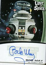 Fantasy Worlds Irwin Allen Lost In Space Autograph Card  A5  Bob May  Robot
