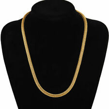 18K Gold Plated Mens Boys Copper Chains Jewelry Necklace and Bracelet Chain