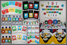 ** MICKEY MOUSE CLUBHOUSE Personalised Birthday Party Decorations Supplies **