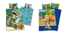 winter bed duvet flannel 100x135 Bob the Builder Jake and Neverland Pirates