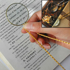 Magnifying Glass Decor Monocle Lens Necklace Magnifier Coin Glass Pendant SD