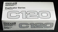 20 New Maxell Duplicator C-120 Professional Audio Cassette Tapes