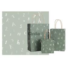 5x Alphabets Prints Paper Gift Bags Party Favors Bag Boutique Shopping Bags