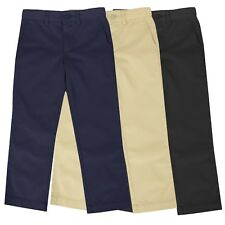Boys School Uniform Pants New Size 4-16 Regular & Husky Flat Front Style NWT