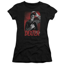 Dexter TV Show Dexter with Power Tool SEE SAW Ladies Cap Sleeve T-Shirt