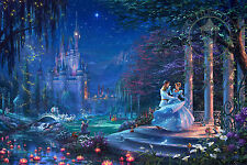 Cinderella Dancing in the Starlight Thomas Kinkade AP 10 Canvas 12x18 Disney