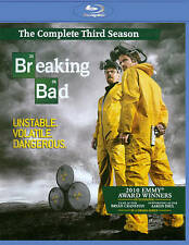 Breaking Bad: The Complete Third Season (Blu-ray Disc, 2011, 3-Disc Set) NEW