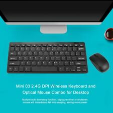 Mini Thin 2.4G Wireless Keyboard and Optical Mouse Combo Kit for Desktop lot CI