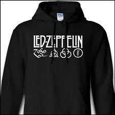 Led Zeppelin IV Zoso Four Runes Symbols Jimmy Page Robert Plant Black Hoodie
