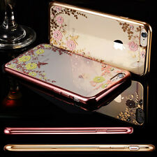 New Hot Diamond Flower Rubber Silicone Clear Case Soft Cover For iPhone 6/Plus