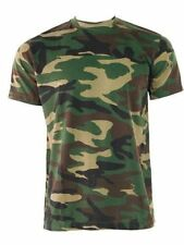 Game Woodland Camouflage Military Army Combat Paintball Camo T-Shirts Top XS-5XL