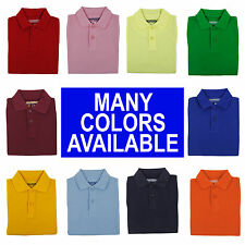 TODDLER BOYS SCHOOL UNIFORM PIQUE POLO SHIRT WITH SHORT SLEEVES Sizes 2T - 4T
