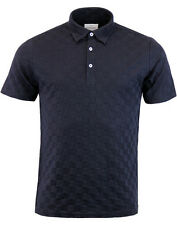 PETER WERTH point 60s Tonal Check Polo - Navy