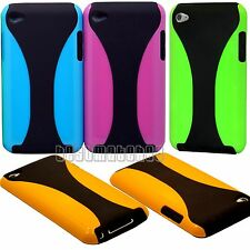 for ipod touch 4TH 4 TH 4 GEN itouch black and neon purple green orange blue /