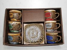 Brand New 6 pcs. Set of Ceramic Coffee Cups with Saucer #2