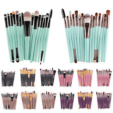 Pro 15Pcs Make Up Brush Brush Powder Shadow Eyebrow Eyeliner Lip Brushes Set