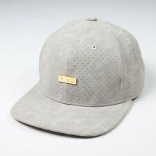 King Apparel Luxe 6 Panel Snapback Cap - Grey Leather - NEW 2017