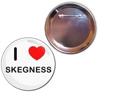 I Love Skegness - Button Badge - Choice 25mm/55mm/77mm Novelty Fun BadgeBeast
