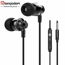 Hot Sale langsdom M300 Volume Control Earphones Bass Headset Stereo Earphones wi