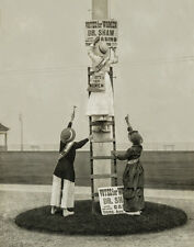 Suffragettes Hang Protest Signs, Early 1900s, Giclee Fine Art Photo Print