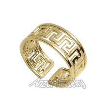 14k Solid Yellow Gold Greek Key Ring STYLE # R1224 Ring size 7