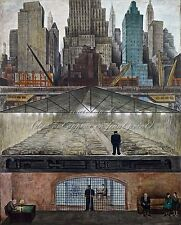 """DIEGO RIVERA Painting Poster or Canvas Print """"Frozen Assets"""""""