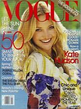 VOGUE MAGAZINE JAN 2008: KATE HUDSON COVER: 50 SMART WAYS TO BRIGHTEN YOUR LOOK
