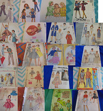 5+ FREE SHIP U PICK SEWING PATTERNS CHILD SZ MODERN-VINTAGE BOYS GIRLS TODDLERS