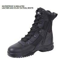 """Black 8"""" Tactical WATERPROOF & INSULATED BOOTS Military USMC Army SWAT Police"""