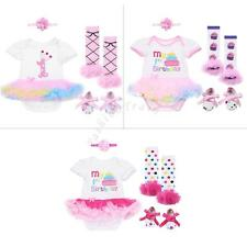 Baby Girls Kid 1st Birthday Tutu Outfit Princess Dress Outfits Romper Bodysuit