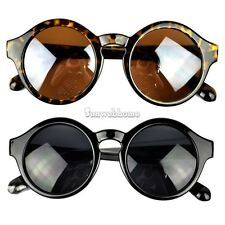 New Super Trendy Retro Round Frame Sunglasses Eyewear UV 400 Unisex Plate SH01