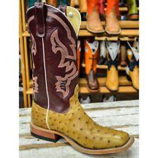 Anderson Bean Men's Antique Saddle Ostrich Cowboy Boots S3002