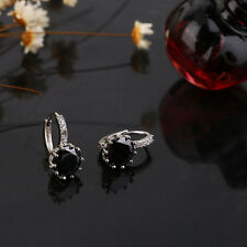 Trendy Party Queen Ladies Silver Color Zircon Earrings Fashion Earbob DS