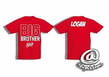 Boys personalised BIG BROTHER  in training /again T-shirt