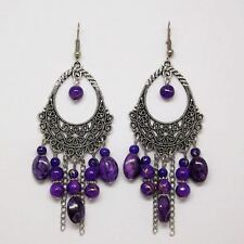 5 Color Silver Plated Party Wear Fashion Zinc Alloy Earrings For Women