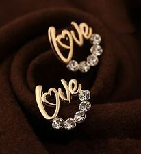 New Fashion Gold and Silver Plated Rhinestone Stud Earring for Women