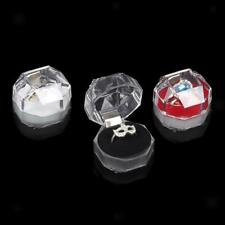 20Pcs Crystal Acrylic Earrings Ring Jewellery Display Storage Case Boxes Holder