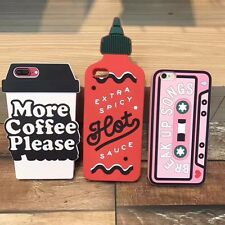 Fashion 3D Tape Chili Sauce Silicone Soft Back Case Cover For iPhone 6 6s 7 Plus