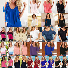 Sexy Women's Loose OFF Shoulder Tops Casual Blouse Sexy T-Shirt Pullover
