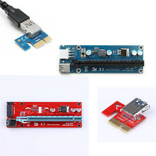 1Pcs Power Hot Extender PCI-E Riser Cable 1x To 16x Pcie Adapter USB 3.0 Card