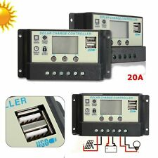 20A MPPT Solar Panel Battery Regulator Charge Controller 12 24V Auto PWM USB SW