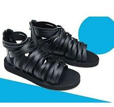 Runway Mens Gladiator Roman strap zipper Strappy Shoes Chic Ankle Boots Sandals