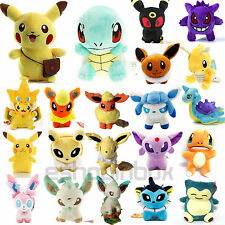 Pokemon Collectible Plush Toy Eevee Pikachu Squirtle Stuffed Animal Doll Gift
