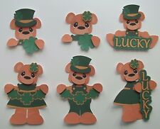 3D-U Pick- PA1 St Patty's Day Bear Mouse Leprechaun Scrapbook Card Embellishment