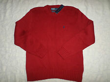 POLO RALPH LAUREN KNIT SWEATER MENS SIZE XL CREWNECK RED COLOR NEW NWT