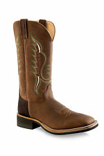 Old West Brown Mens Oily Leather Square Toe Cowboy Western Boots