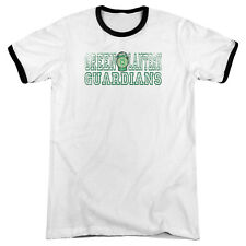 DC Comics Green Lantern Guardians Black Ringer White Adult T-Shirt - (Large)