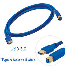 High Speed USB 3.0 Type A Male to B Male Extension Data Sync Cable Cord 0.5m~3m