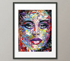 Lg.Canvas & Fine Art Prints Contemporary Figurative Portrait Painting Abstract