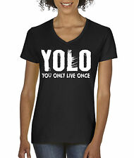 New Way 082 - Women's V-Neck YOLO You Only Live Once